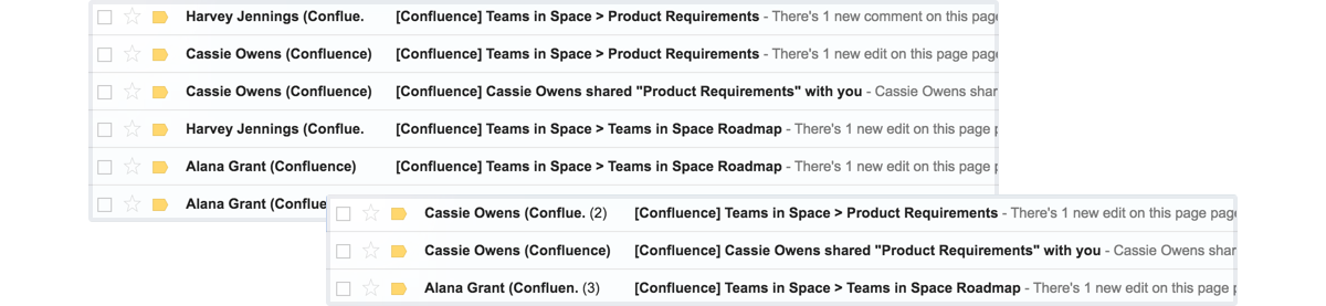 confluence-email-threading